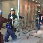 大型ガラスの工事